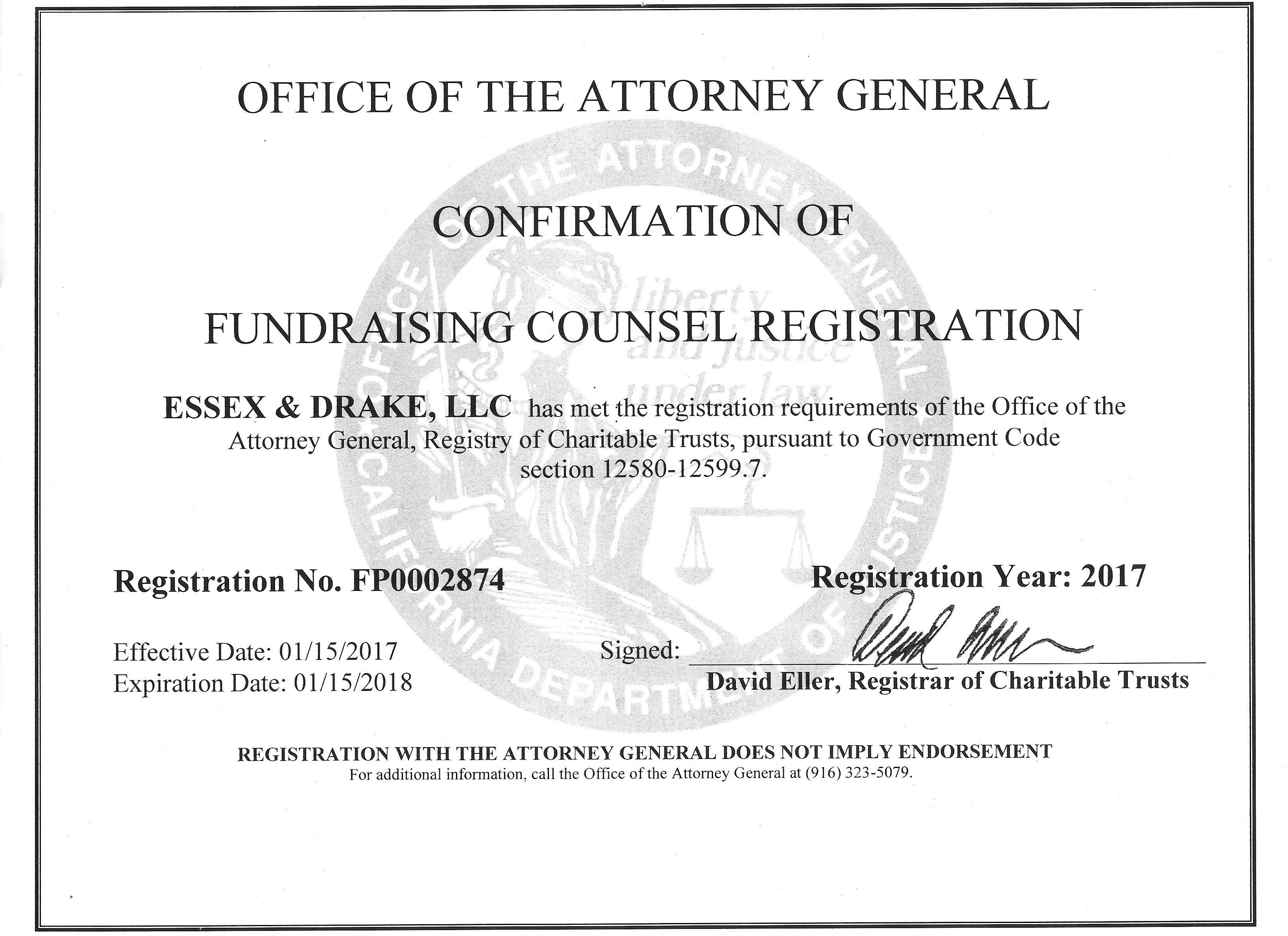Attorney General Compliance